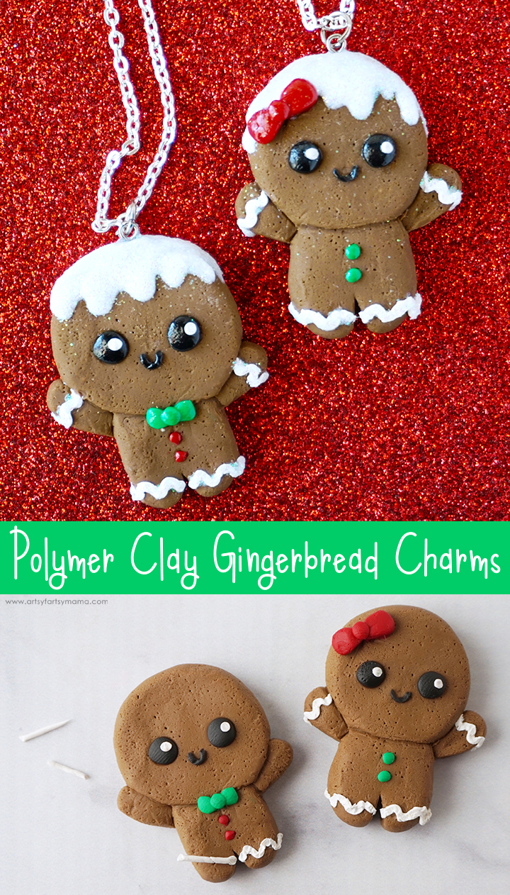 Polymer Clay Gingerbread Charms