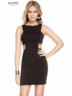 Scoop Neckline Alyce Paris Short Homecoming Dress Black-gold