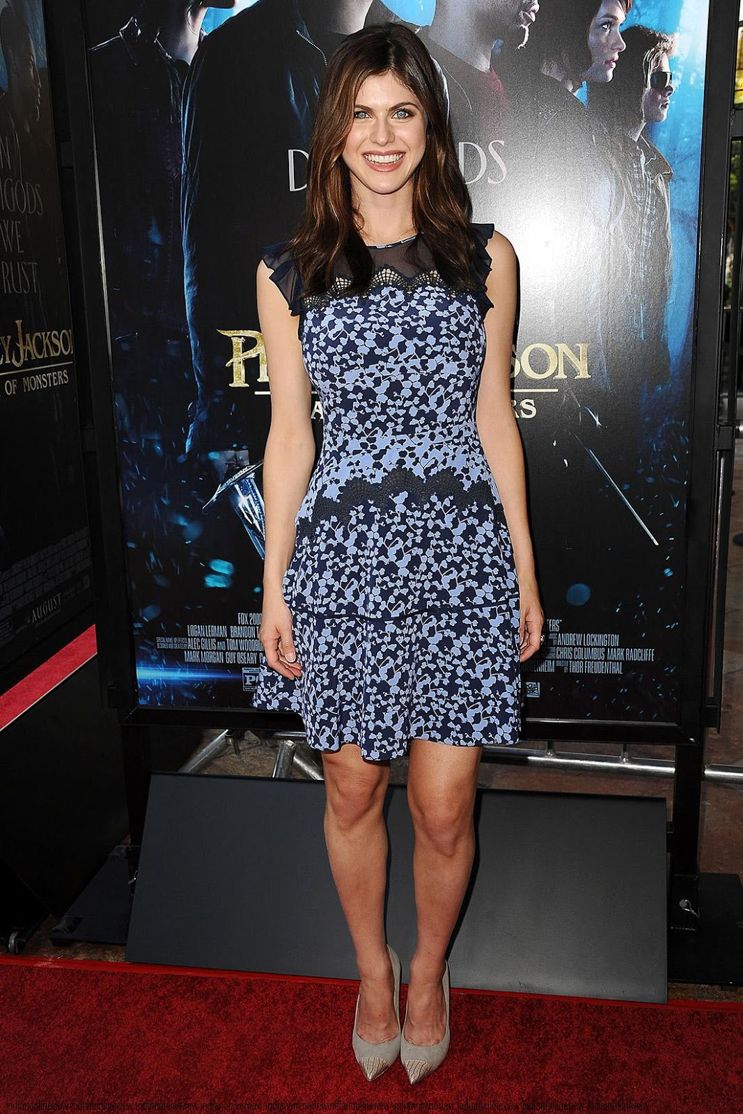 Anand Name 3d Wallpaper Alexandra Daddario At The Percy Jackson Premiere High