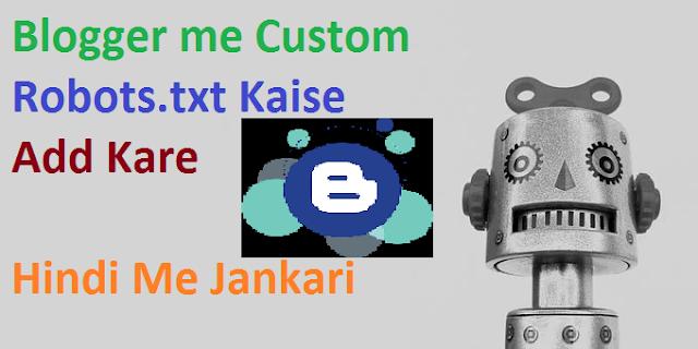 blogger custom robots txt