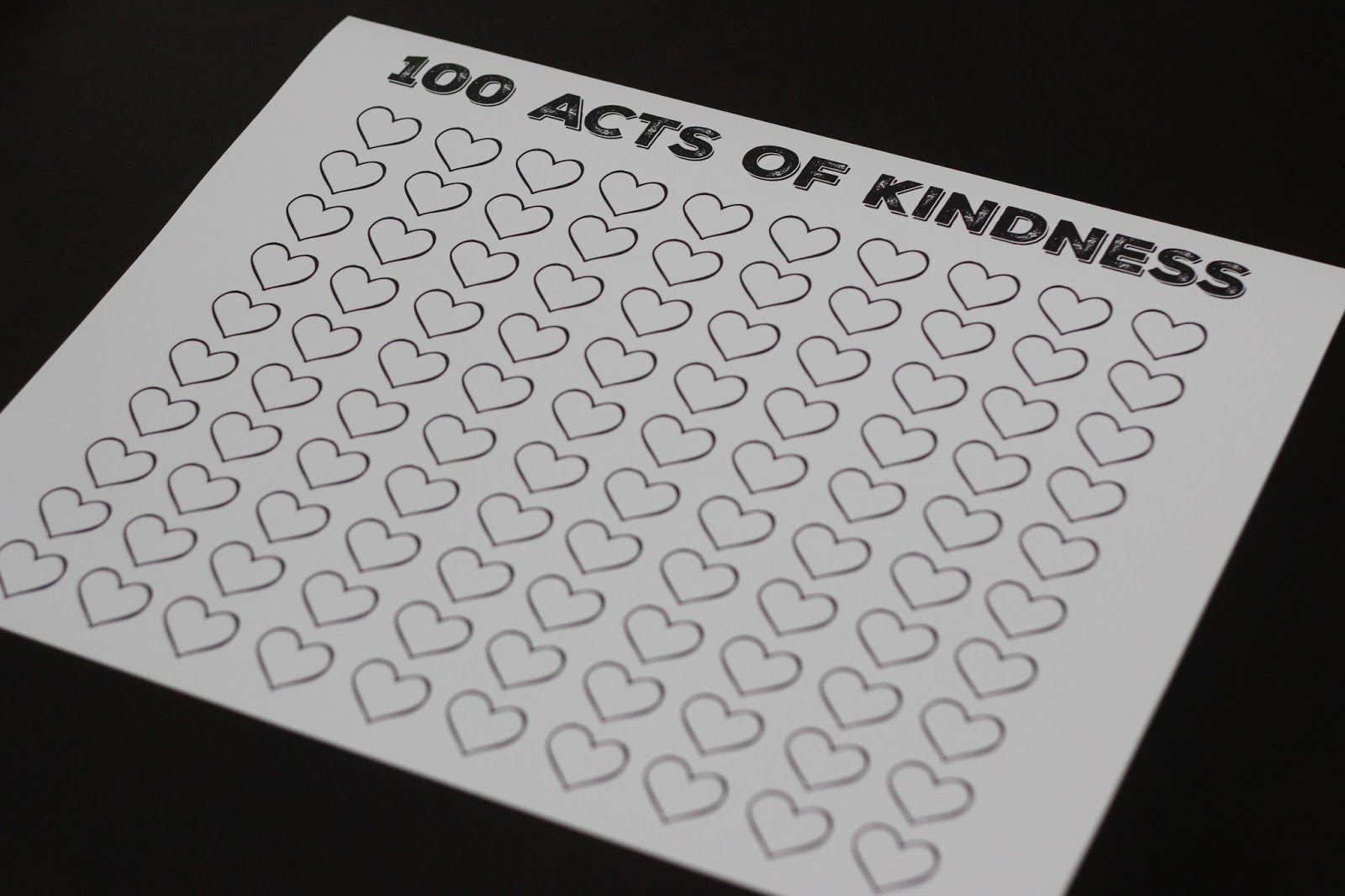 Toddler Approved 100 Acts Of Kindness Free Printable