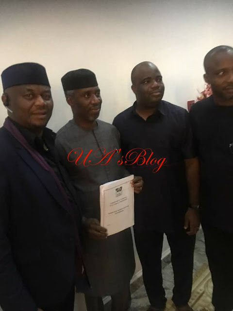 Okorcha's Son-In-Law, Uche Nwosu Receives INEC Form As APC Candidate (Photos)