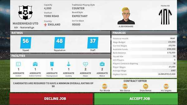 Soccer Director 2021 Mod Apk gameplay