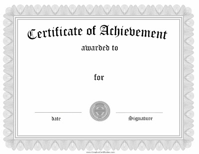 Blank Award Certificate Template For Word Jkawp