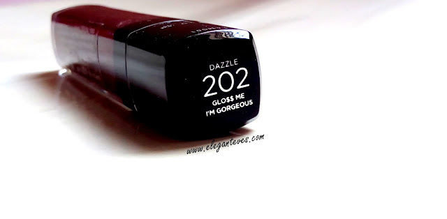 Swatches of L'oreal Paris Infallible Mega Gloss I'm Gorgeous #202
