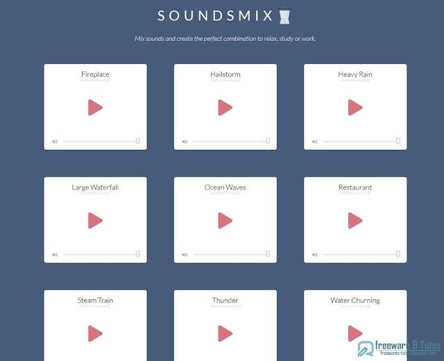 SoundsMix : une application en ligne pour créer des sons relaxants