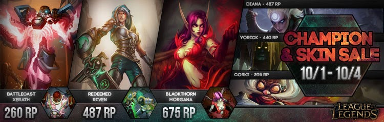 Surrender at 20: New champion and skin sale 10/1 - 10/4