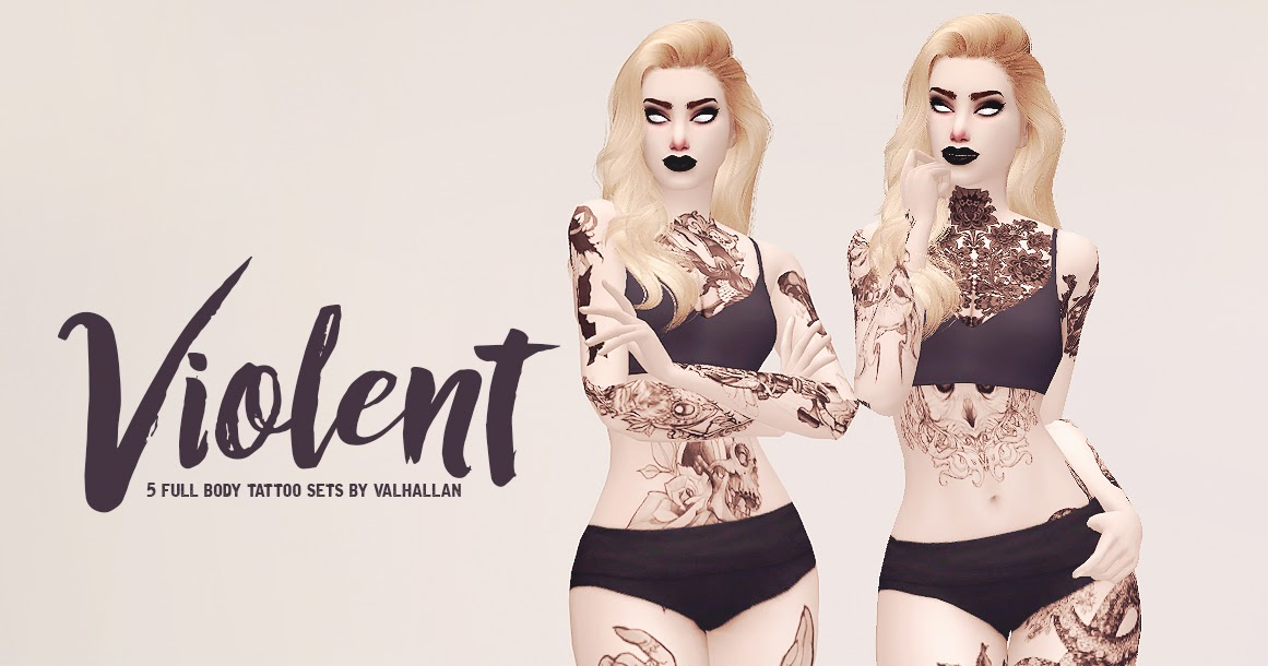 Collection Of 5 Full Body And Seperated Tattoo Sets By Valhallan