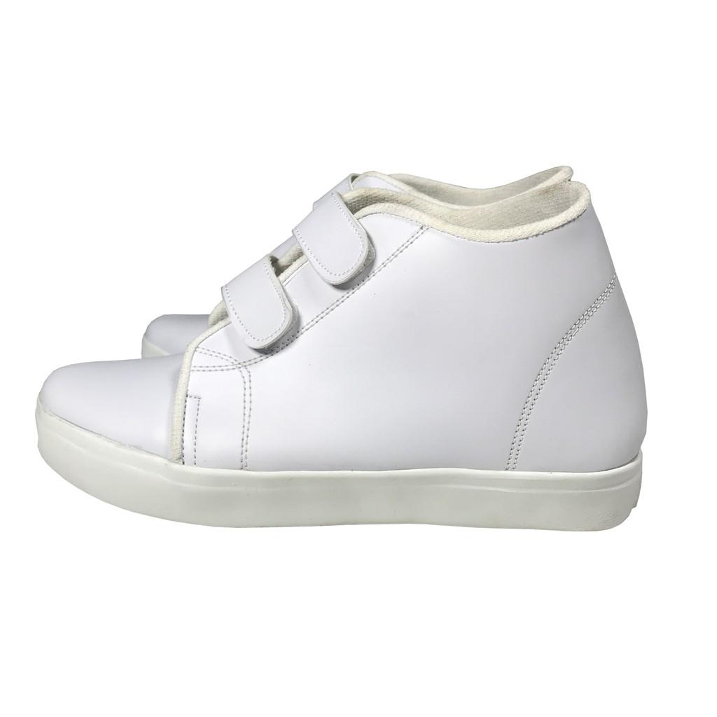 Max Dash - Hidden Wedges Sneakers Casual Adhesive Strap Wanita Hitam Putih
