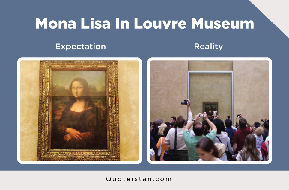 Expectation Vs Reality: Mona Lisa In Louvre Museum