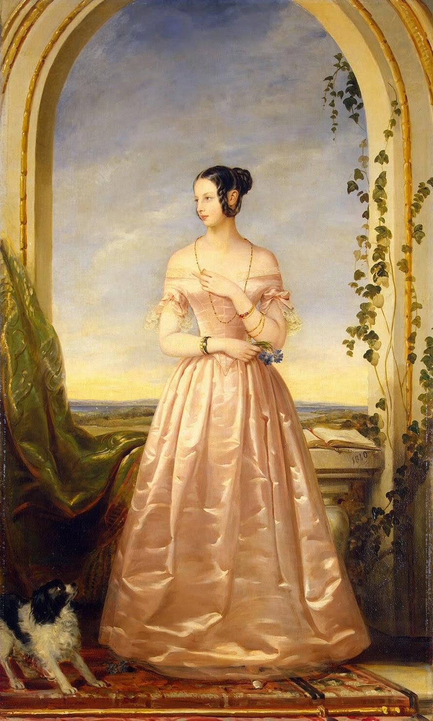 Portrait de la Grande Duchesse Alexandra Nikolaevna (1840), Christina Robertson
