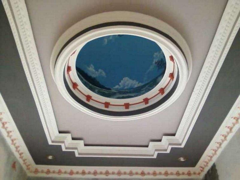 desain plafon ruang tamu mungil yg bagus