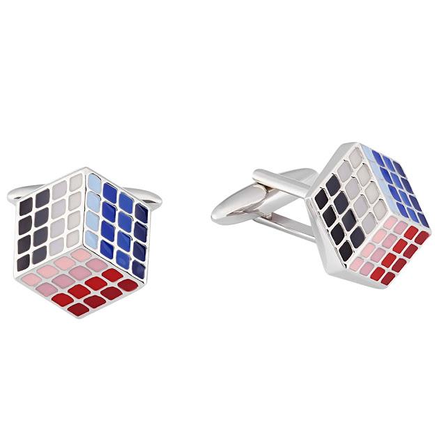 Rubik's Cube Cufflink by shazé. Price- Rs. 1,890
