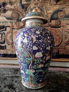 ジェノヴァのMuseo di Palazzo Realeの中華風花瓶