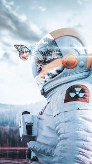 Radioactive Astronaut Mobile HD Wallpaper