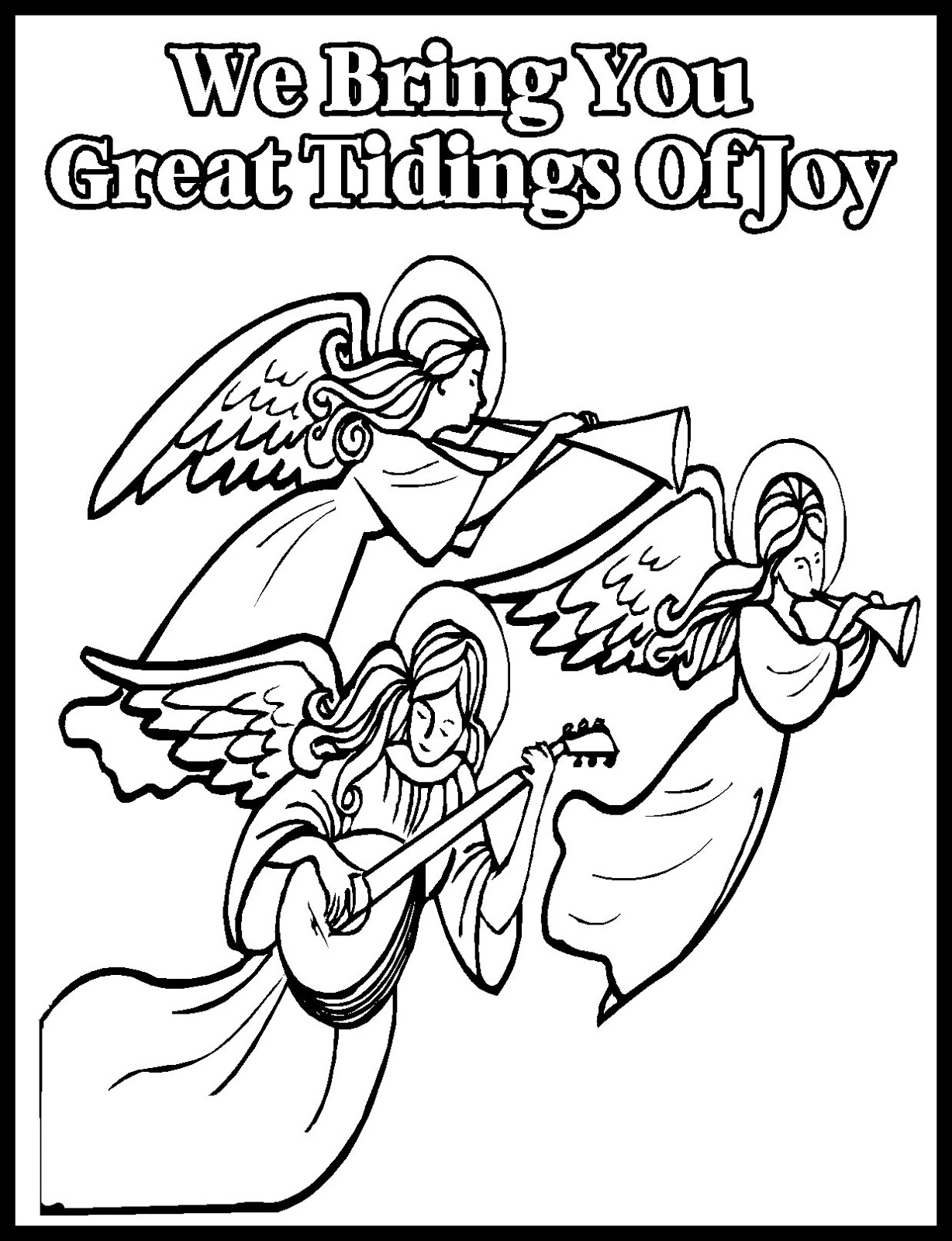 Children's Gems In My Treasure Box: Christmas Coloring Sheets