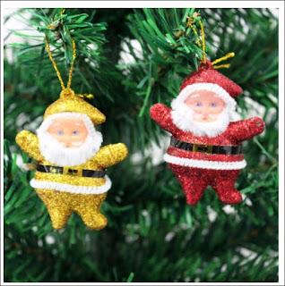 Glitter Santas