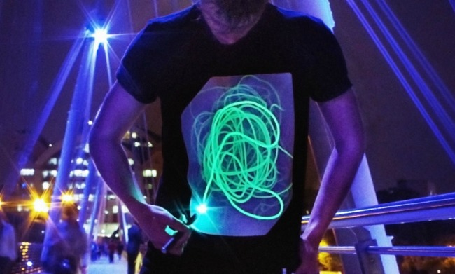Interactive glow t-shirt - unique and fun gift ideas for kids