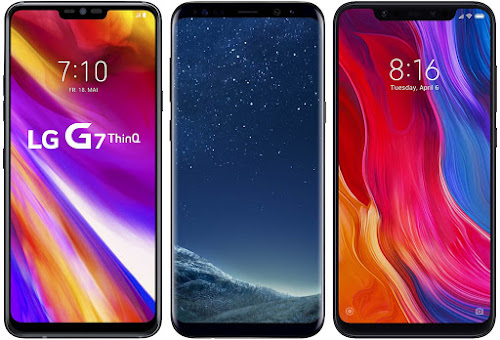LG G7 ThinQ vs Samsung Galaxy S8 vs Xiaomi Mi 8 64G