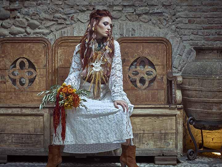 peinado de novia sencillo 2020