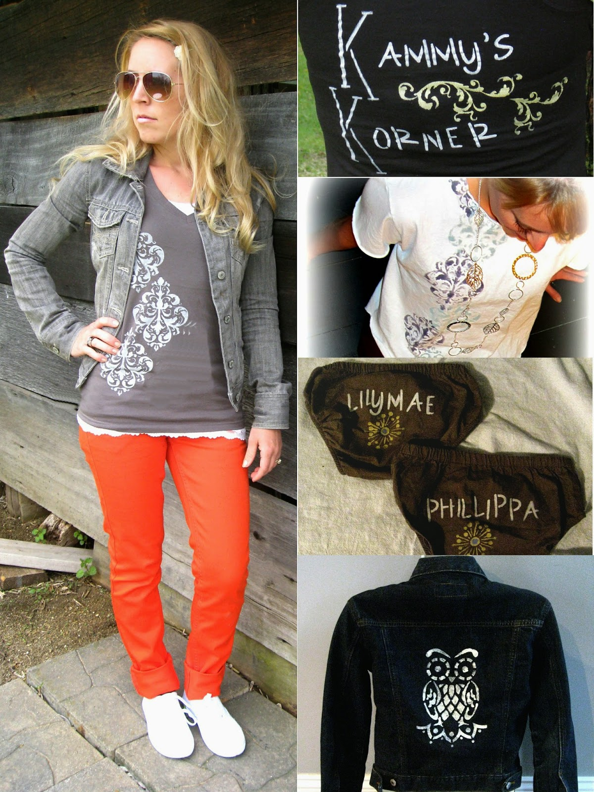 Kammy stenciled clothes