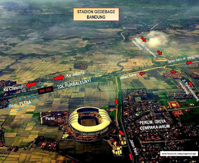 Akses Jalan Masuk Stadion GBLA