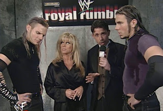 WWE / WWF Royal Rumble 2000 - Michael Cole interviewed The Hardy Boyz w/ Terri