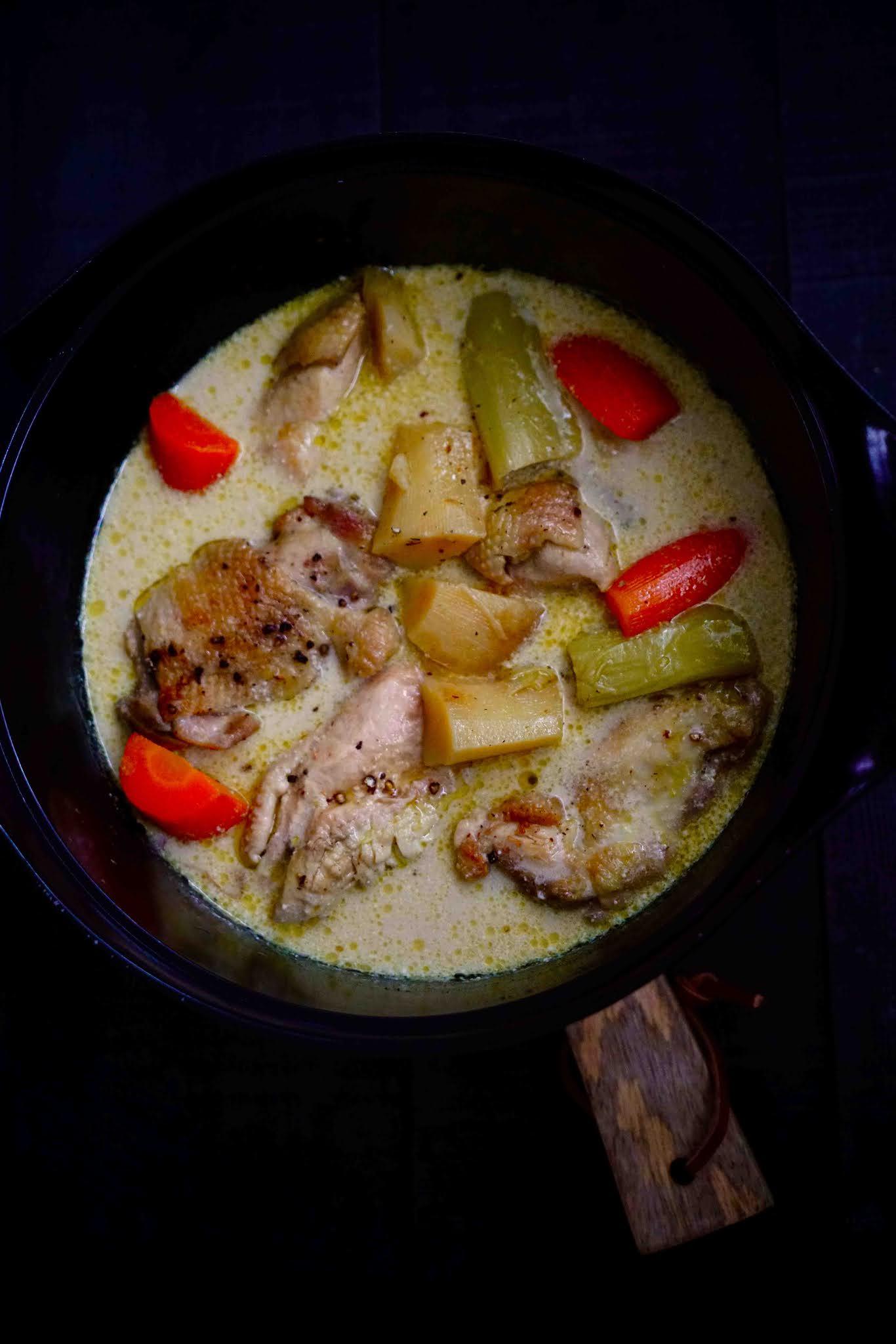 plat au cidre , cuisine réconfortante , recette facile , légumes d'automne