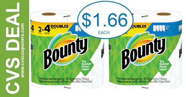 CVS Bounty P&G Deal $1.66 3-1-3-7