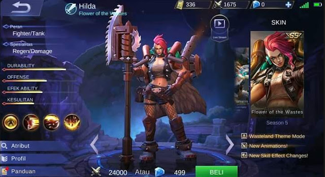 Gear Hilda Terkuat di Mobile Legends