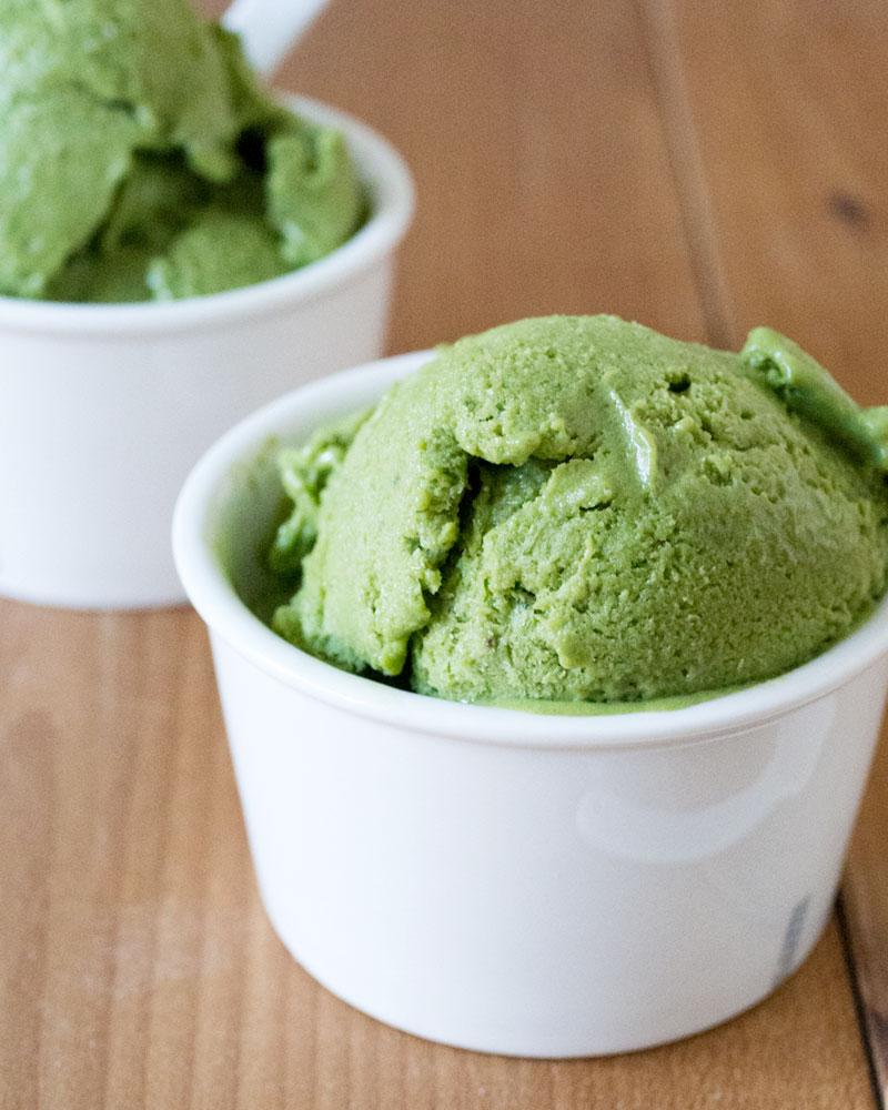 "Matcha (Green Tea) Banana ""Ice Cream"" #desserts #icecream #banana #matcha #delicious"