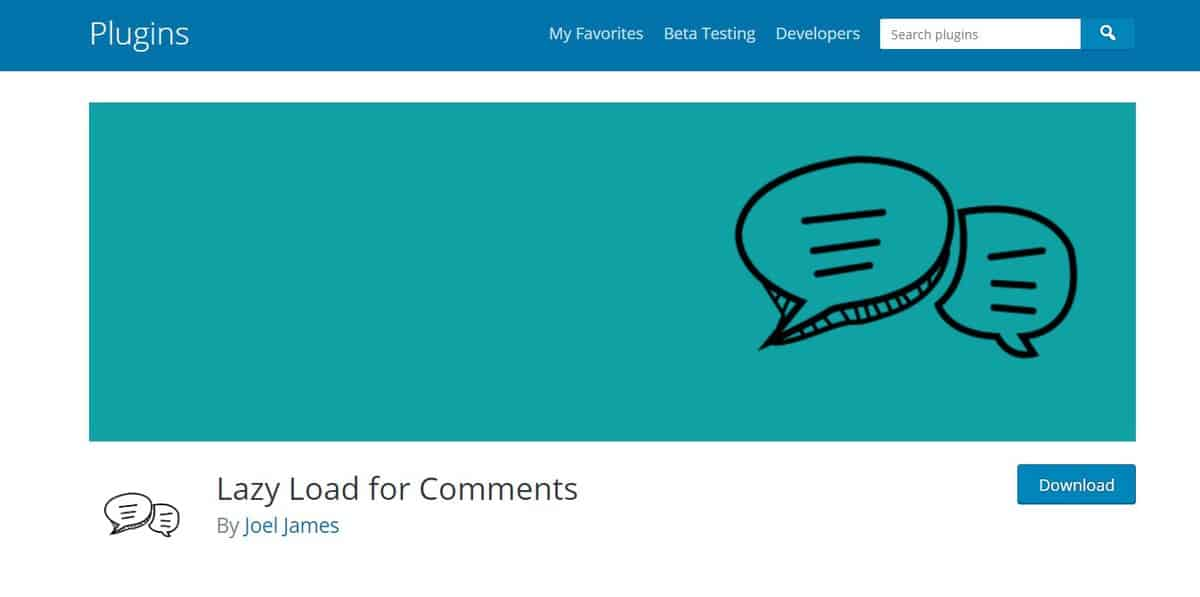 Plugin Lazy Load For Comments