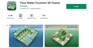 Flow Water Fountain 3D