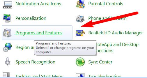 Uninstall Program Aplikasi pada Windows