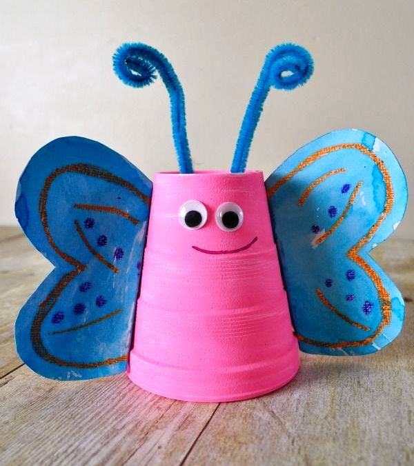 Paper cup craft animal art and craft projects - Crafts made from plastic cups ...