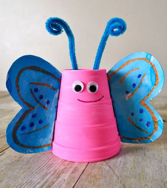 paper cup craft animal