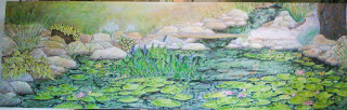 big paintings, Pond, water features painting, Robin Baratta