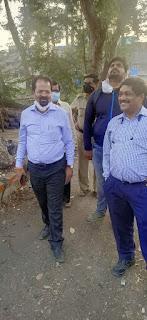 पूर्व महापौर ने किया दो मंजिला शौचालय निर्माण स्थल का निरीक्षण | #NayaSaberaNetwork