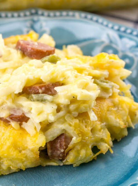 SMOKED SAUSAGE CHEESY POTATOES