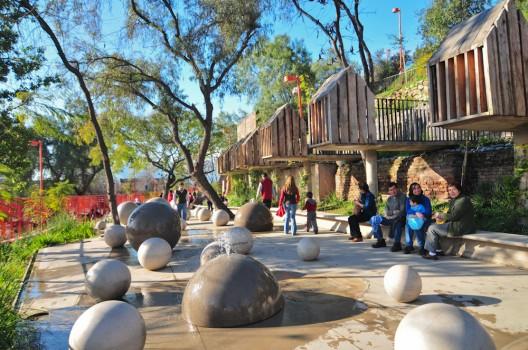Parque Metropolitano no Verão em Santiago do Chile