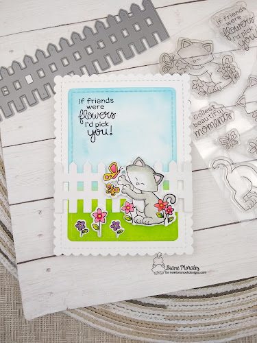 A card by Diane Morales featuring Newton's Flower Garden by Newton's Nook Designs