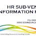 HR Sub-Vendor / External HR Information Sheet