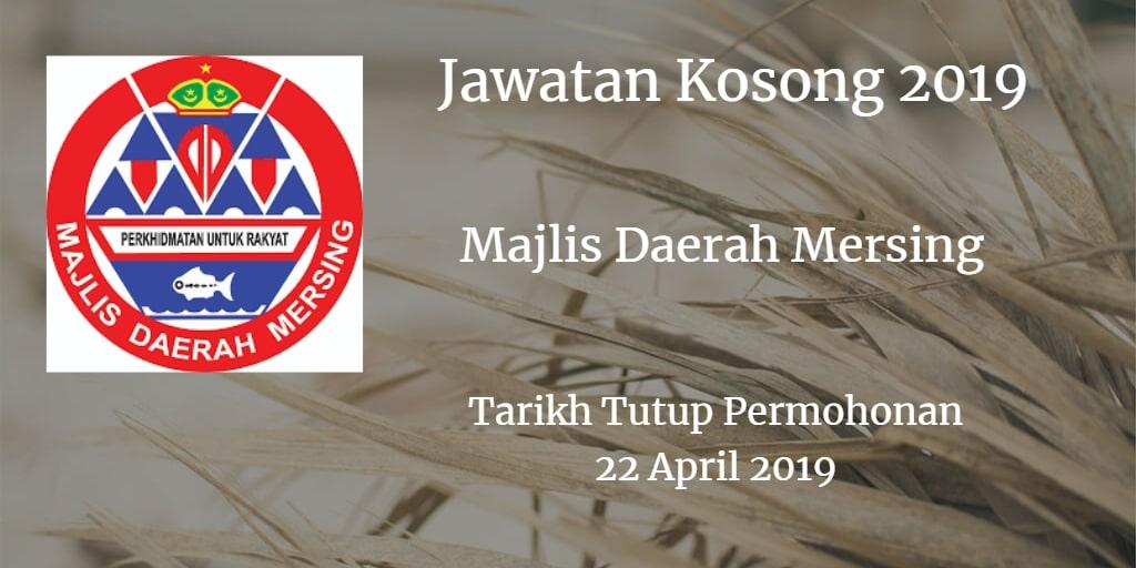 Jawatan Kosong Majlis Daerah Mersing 22 April 2019