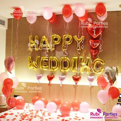 Shop bóng trang trí phòng cưới ở Hà Nội