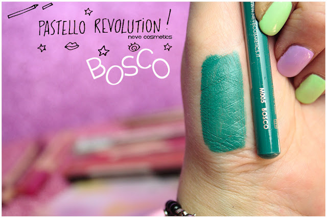 bosco swatches BioPastello occhi Neve Cosmetics  pastello revolution