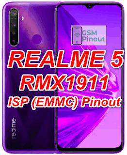 Realme 5 RMX1911 ISP (EMMC) Pinout