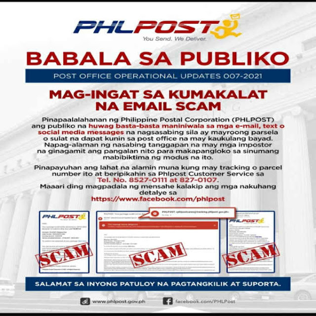 phlpost contact number