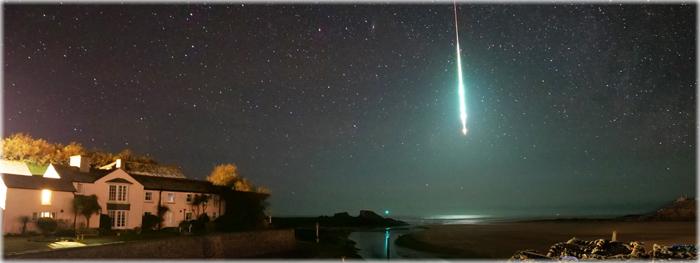 meteoro super brilhante na Inglaterra