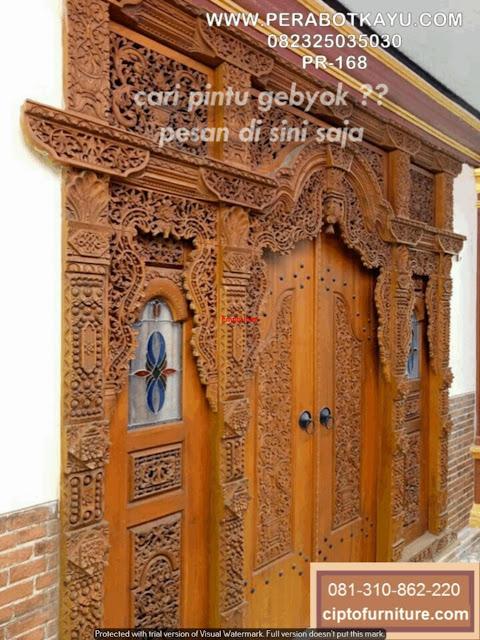 Gambar teras Rumah Pintu gebyok