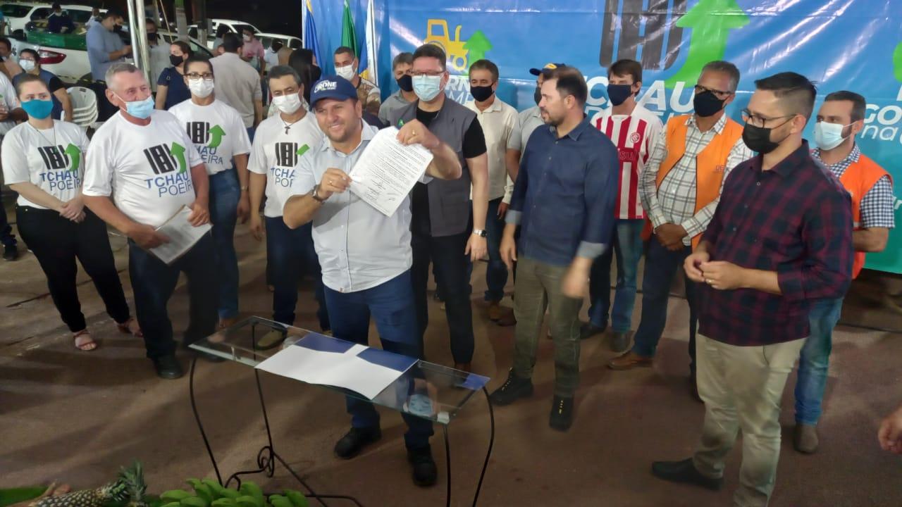 Construção da ponte sobre o Rio Ribeirão no distrito de Pacarana atende reivindicação de mais de 30 anos, diz Cirone Deiró